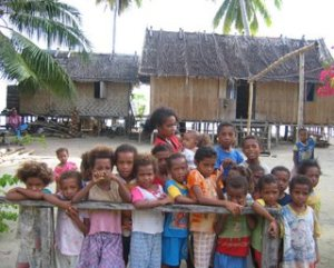 Children on Batanta Island, Indonesia. Photo by the author