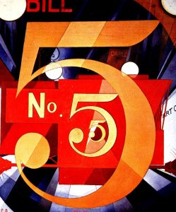 I Saw the Figure 5 in Gold, 1928, Charles Demuth (American, 1883–1935)