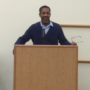 Gregory Pardlo reading at LIU Brooklyn. Photo by SEA