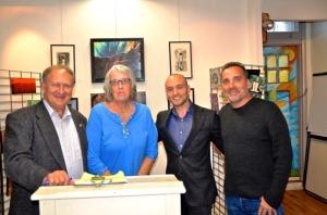 Peter Krok, Eileen Moeller, Cameron Conaway, and Scott Edward Anderson at MRAC, November 2015. Photo: Ron Howard